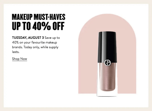 Nordstrom Canada Glam Up Days 2021 Canadian Deals Day 7 - Glossense