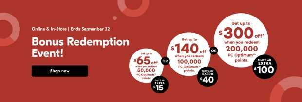 Shoppers Drug Mart Canada Spend Your Points Bonus Redemption Event September 22 2021 - Glossense