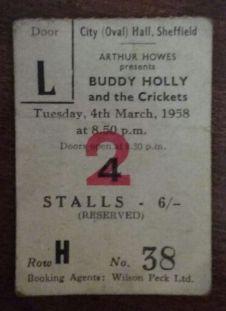 Alan Fishwick's ticket stub