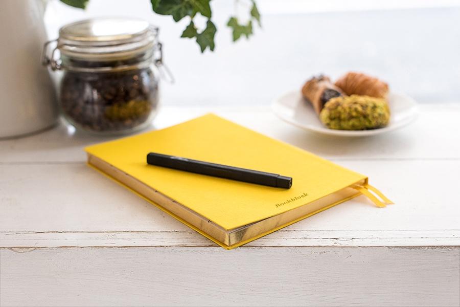 yellow journal notebook