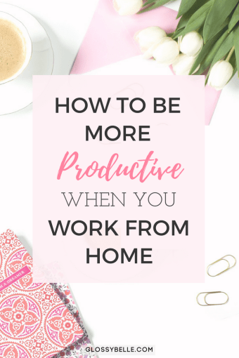 If you work from home and find that you're unfocused and often get distracted, learn about the methods I've used to successfully be more productive with my time, skyrocket my efficiency rate, and get more done in this post. #productivity #workfromhome #workathome #productive #timemanagement