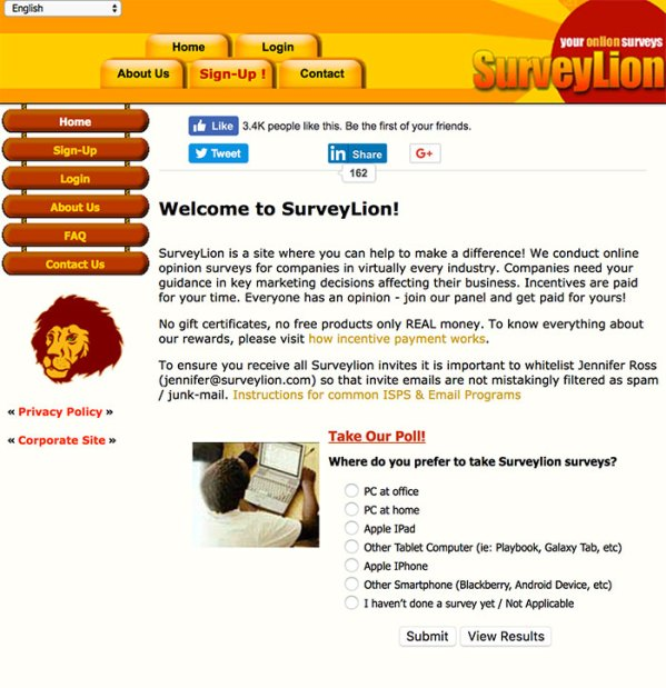 SurveyLion Paid Surveys