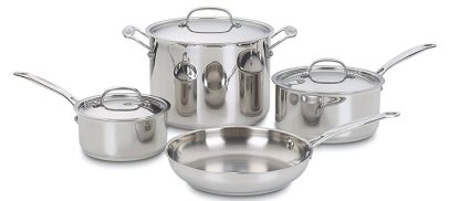 stainless steel pots and pans