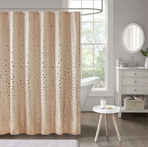 shower curtain peach
