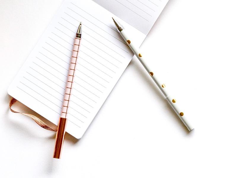 pen change address notepad