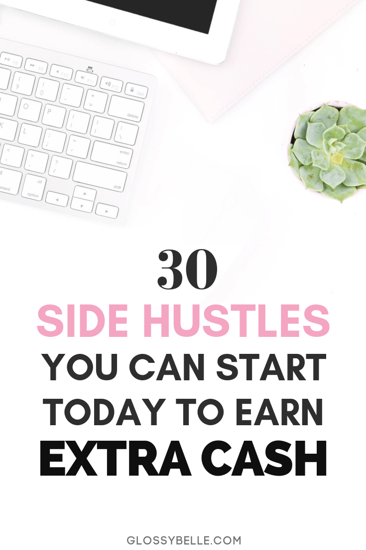 Whether you're saving money for a trip, retirement, or to finally quit your 9-5 desk job, here are 30 easy side hustles you can start today to earn extra cash & diversify your income stream. girl boss | side hustle | earn extra money | entrepreneur | side hustles | make money online | start a business | business tips | business ideas | solopreneur | girlboss | side income | make extra cash | passive income | side job | hustling | diversify income | affiliate marketing | earn passive income