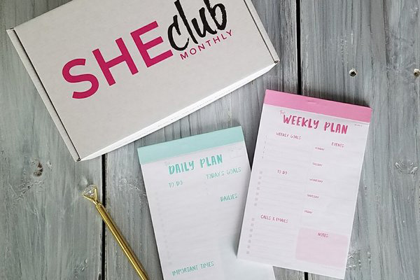 SHEclub monthly subscription box