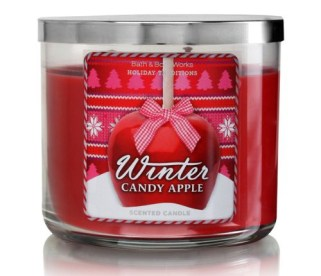 bath and body works winter candy apple three wick candle