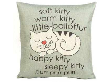 sleepy kitty pillow