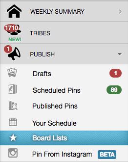 tailwind board lists