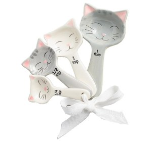 ceramic cat measuring spoons