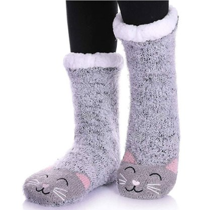 fleece slipper socks