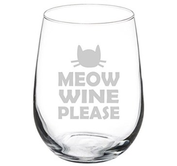meow wine please wine glass