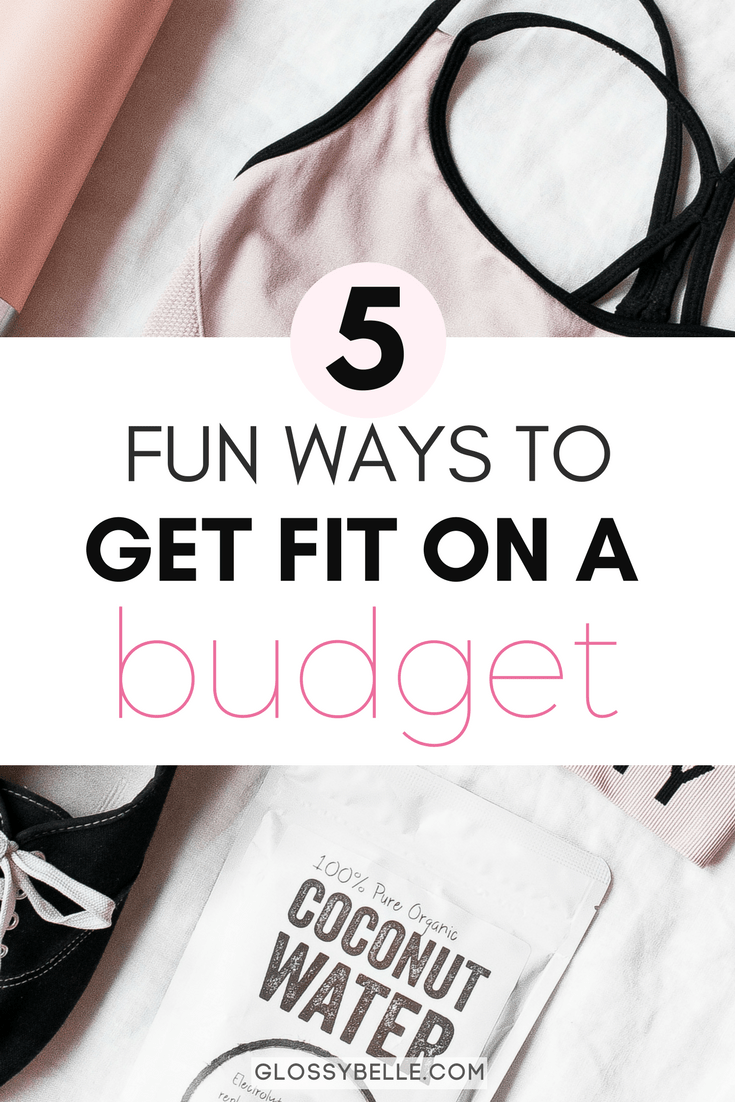 Working out and taking control of your health doesn't have to cost an arm and a leg.  Here are 5 fun and affordable ways you can get fit on a budget so you can feel and look your best this summer. #ad | fitness | health | wellness | workout | motivation | budgeting | save money