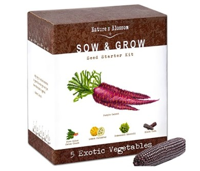 sow and grow exotic vegetables kit