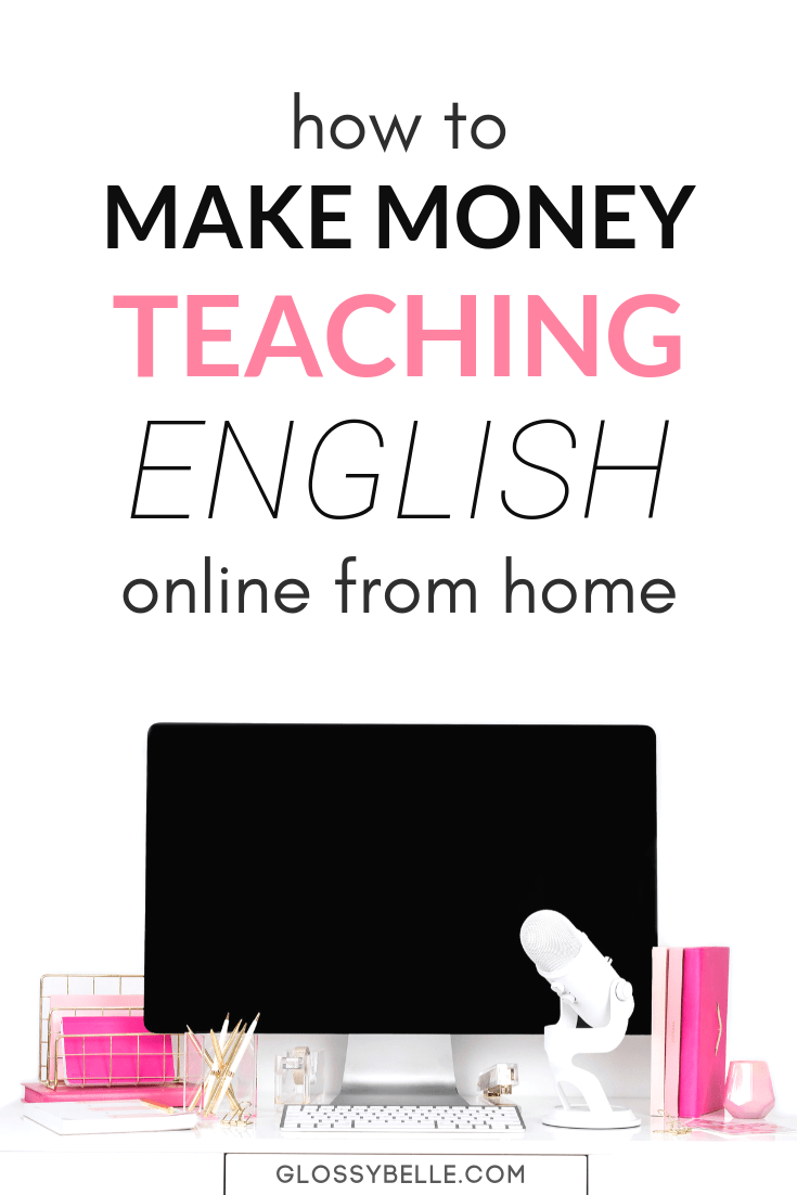 If you're looking for a flexible side hustle to make extra income each month with the ability to set your own hours and work at your own pace, make up to $22/hour by teaching English online at home to kids in China. This is a great work-at-home opportunity if you enjoy teaching and working with kids. | make money online | make extra money | english teacher | teach online #teaching #teacher #workfromhome #workfromhomejobs #sidehustle #makemoneyonline