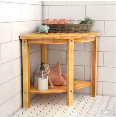 bathroom corner storage