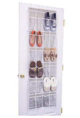 over the door hanging shoe organizer