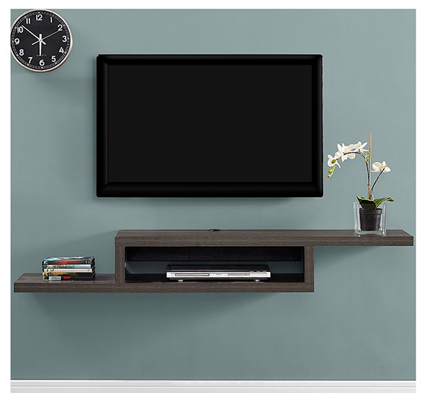 floating wall-mounted tv console