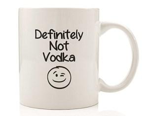 definitely not vodka mug
