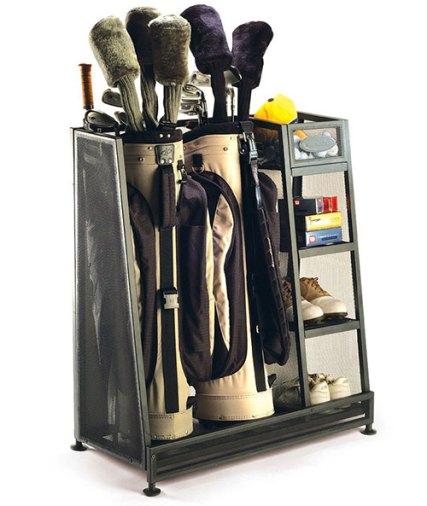 gold bag garage organizer rack