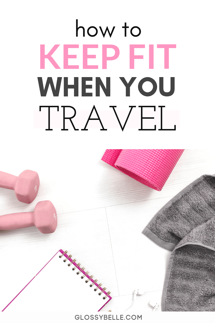 Traveling is a lot of fun but we tend to neglect our bodies by over-indulging and not regularly exercising while we're on vacation.Here are 8 tips on how to stay in shape, make exercising a priority, and keep fit when you travel. | stay fit | healthy habits | summer body | get in shape #fitness #fitnessmotivation #fitnesstips #fitnessgoals #traveltips #travel #traveling #workout #exercise #healthylifestyle #health #wellness