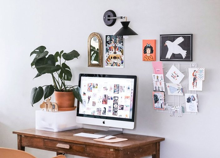office desk plant