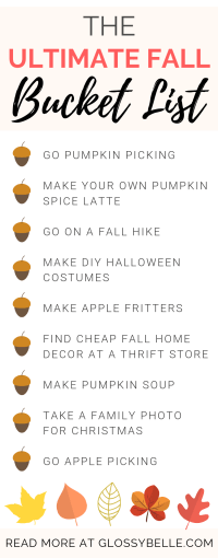 Looking for the ultimate fall bucket list of activities? Here are 40 fun indoor & outdoor fall activities for your autumn to-do list! | outdoor activities | best fall ever | pumpkin ideas | fall ideas | fall crafts | apple recipes | family activities | autumn activities | apple pie | fall home decor | fall indoor activities #fall #fallfun #fallseason #fallhomedecor #fallideas #fallactivities #autumn #outdooractivities #indooractivities #fallbucketlist #bucketlist #bucketlistideas #familyfun