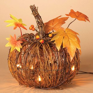 light-up twig pumpkin