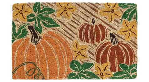 pumpkin patch outdoor mat