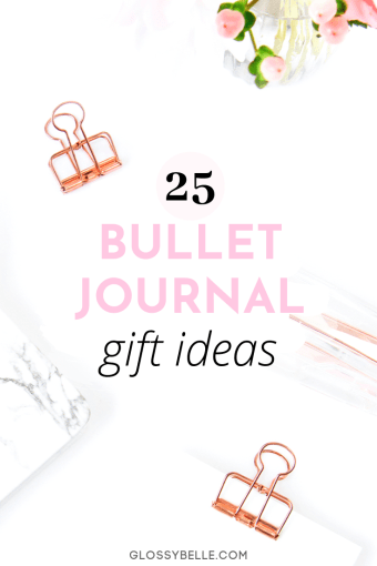 There's no better time than Christmas to give the gift of organization and productivity to your loved ones. If you're looking for gift ideas for the bullet journal and planner lovers in your life, here is a list of 25 bullet journal gifts to check out. | bullet journal supplies | christmas gifts | holiday gifts | holiday gift guide | goal setting | bujo | organized #bulletjournal #giftguide #christmasgifts #giftideas #organized #goalsetting #goals #bulletjournaling #bujojunkies #productivity