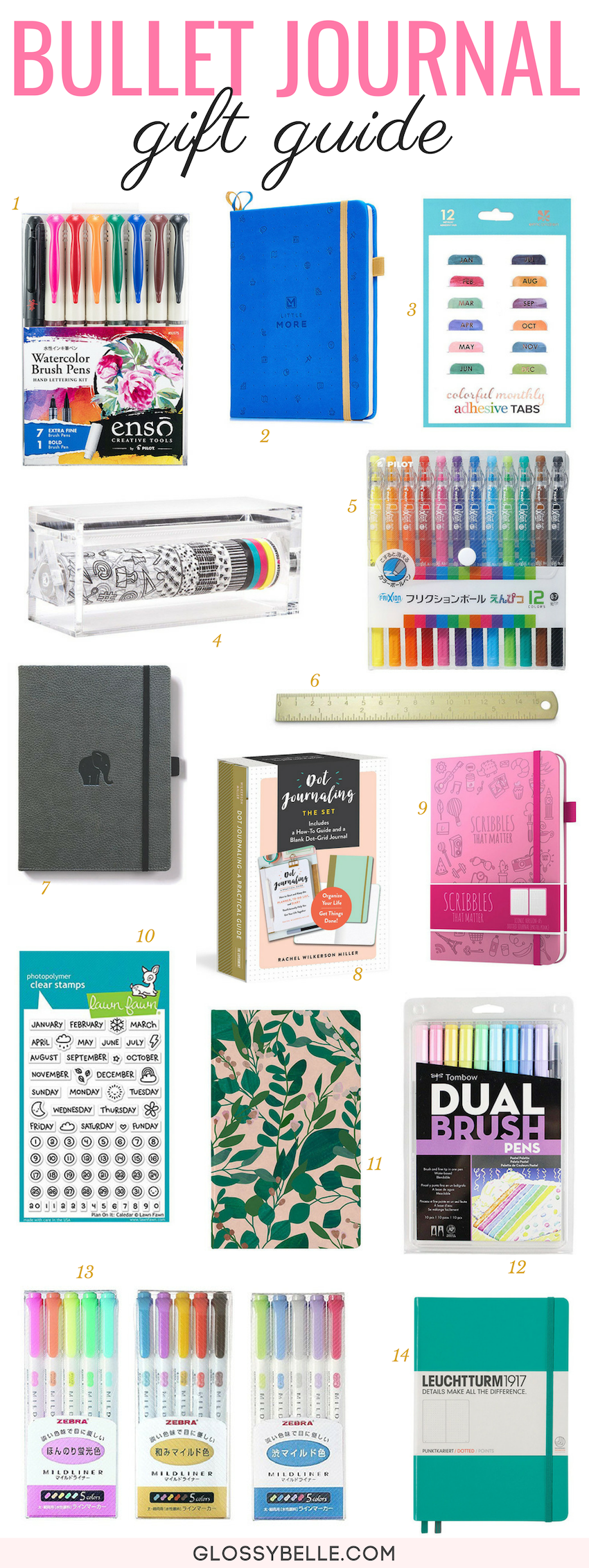 If you're looking for great gift ideas for the bullet journal and planner lover in your life this holiday season, here are 18 must-have journal supplies and notebooks to check out! | bullet journal supplies | gift ideas | christmas | christmas gifts | holiday gifts | holiday gift guide #bulletjournal #giftguide #christmasgifts #giftideas