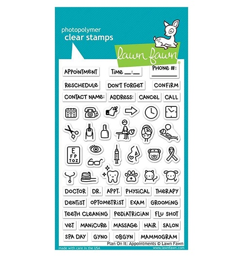 Lawn fawn clear plan on it appointment stamps