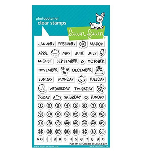 Lawn fawn clear plan on it calendar stamps
