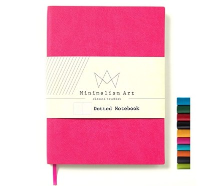 minimalism art dotted softcover journal