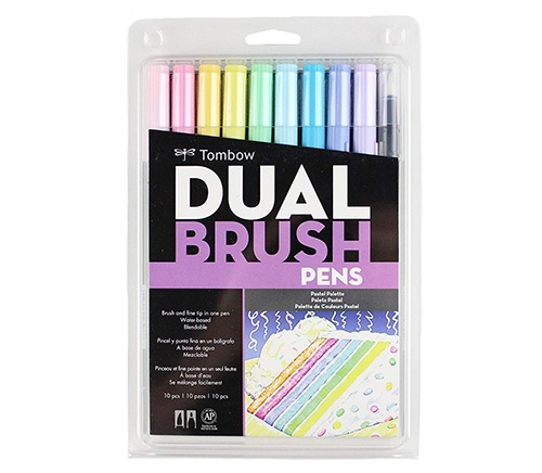 tombow pastel dual brush pen set