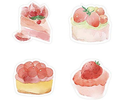watercolor dessert sticky notes
