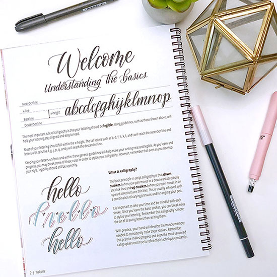 modern calligraphy - a beginner's guide