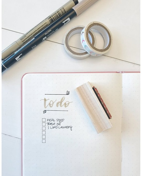 to-do list stamps for bullet journaling