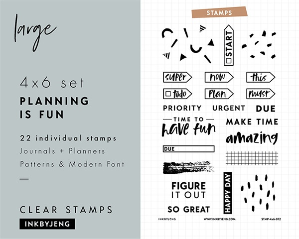 planning stamps for bullet journaling