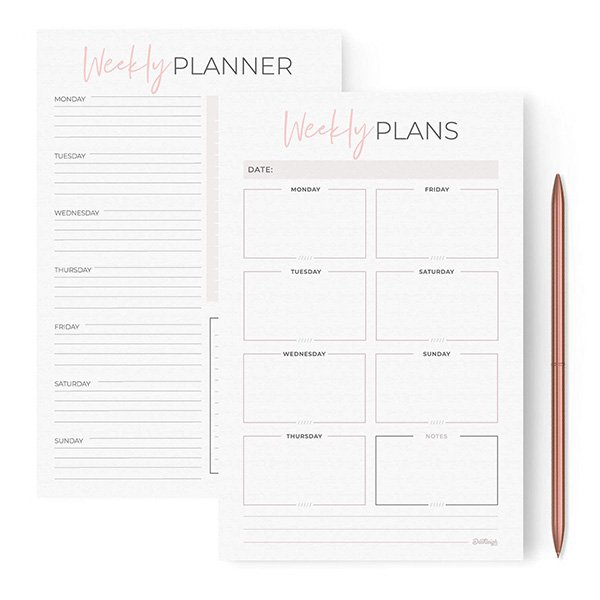 planner and to-do list notepad