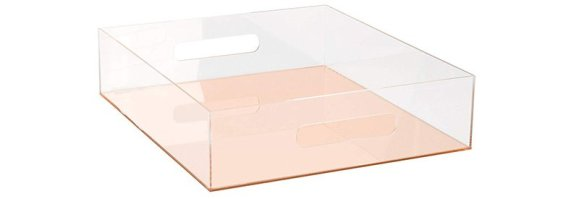 rose gold acrylic letter tray
