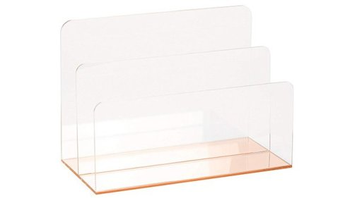 rose gold letter filer file holder