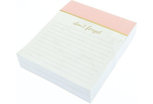 rose gold lined notepad