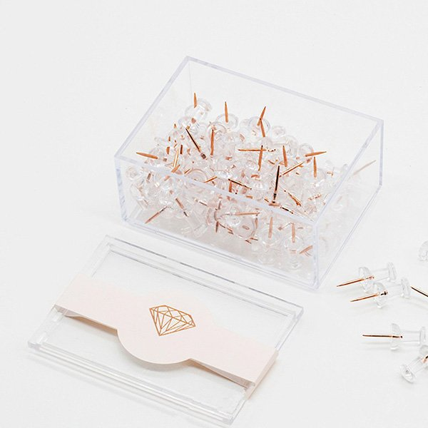 rose gold thumbtacks