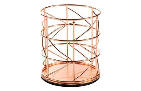 rose gold wire pen holder