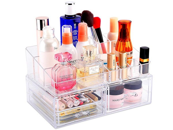 COOLBEAR Stackable Acrylic Makeup Organizer