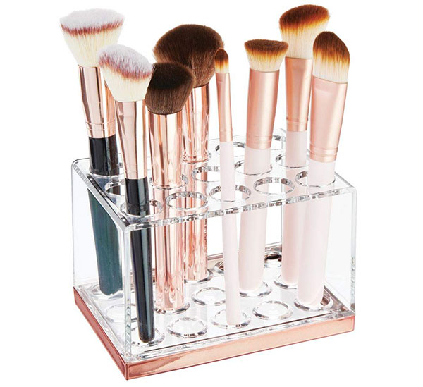 mDesign Makeup Brush Holder