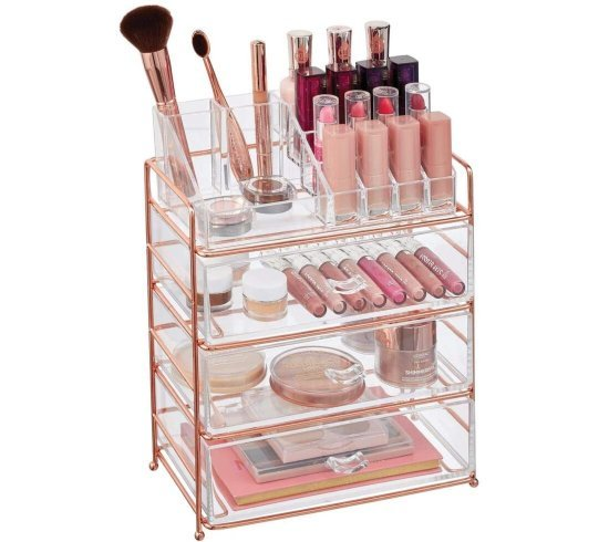 mDesign Plastic Cosmetic Makeup Organizer Storage