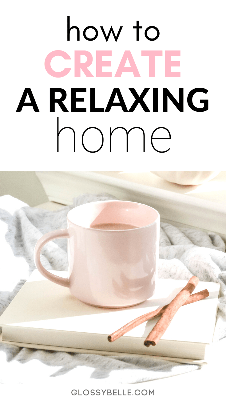 Being in an environment where you feel relaxed & at peace is important in order to be productive and happy. Here are 8 ways to create a more calm & relaxing space in your home or office so you can relieve anxiety and feel happier, less stressed, and more at peace. | plants | productivity | inspiration | motivation | anxious | stress-free | home decor | self-care | happiness | wellness tips | mental health | minimalism | aromatherapy | essential oils | anxiety | home organization | zen